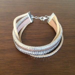 Jewelry - FREE with purchase / tan rhinestone bracelet